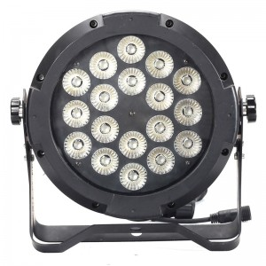 18 * 12w RGBW 4in1 luz par impermeable